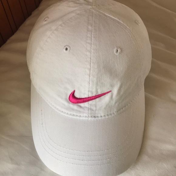 5374f017cbc Nike girls adjustable pink white sz 4 6x Lk nw hat.  M 5aabecd5077b97ecabd28632